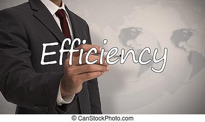 palavra, escrita, effici, homem negócios