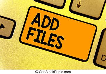 palavra, escrita, texto, adicionar, files., conceito...