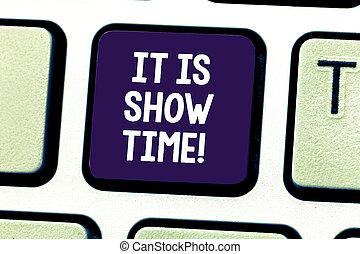 palavra, escrita, texto, aquilo, é, mostrar, time., conceito...