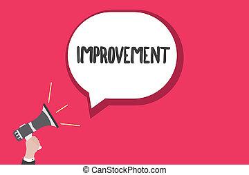 palavra, escrita, texto, improvement., conceito negócio, para, fazer, coisas, melhor, crescer, especiais, mudanças, inovação, progresso