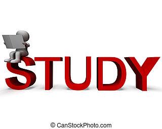 palavra, estudo, aprendizagem, educação, ou, mostra