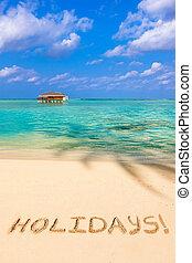 palavra, feriados praia