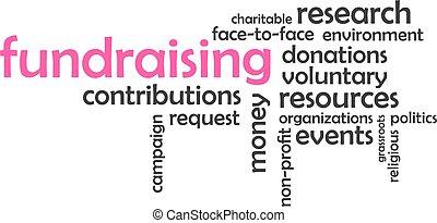 palavra, -, fundraising, nuvem