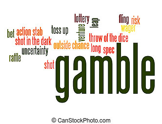 palavra, gamble, nuvem