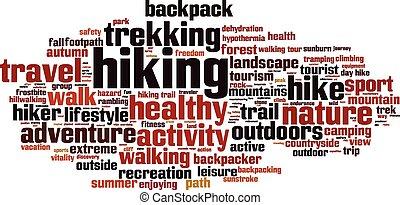 palavra, hiking, nuvem