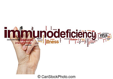palavra, immunodeficiency, nuvem