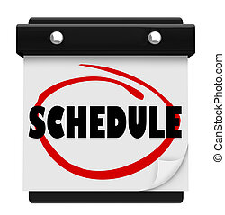 palavra, lembrar, programa, parede, compromissos, calendário