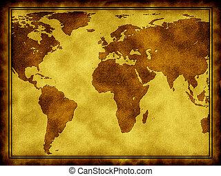palavra, mapa, ligado