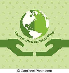 palavra, meio ambiente, dia, fundo, terra