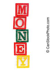 """palavra, """"money"""""""