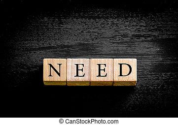 palavra, necessidade, isolado, ligado, experiência preta,...