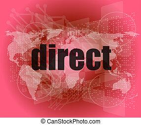 palavra, negócio, direto, fundo, digital, concept:
