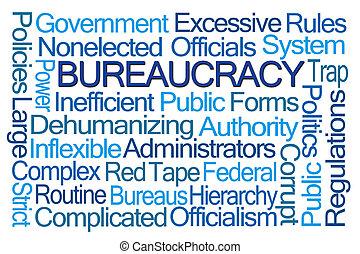 palavra, nuvem, burocracia