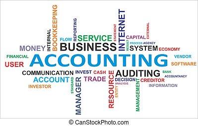 palavra, nuvem, -, contabilidade
