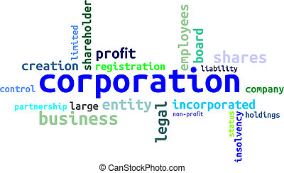 palavra, -, nuvem, corporação