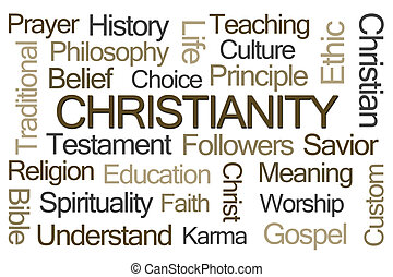 palavra, nuvem, cristianismo