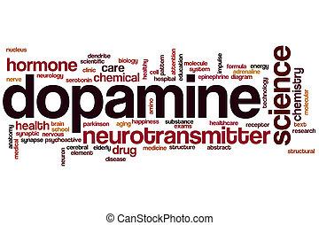 palavra, nuvem, dopamine