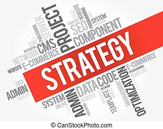 palavra, nuvem, estratégia