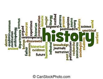 palavra, nuvem, história