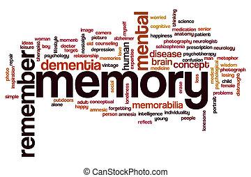 palavra, nuvem, memória