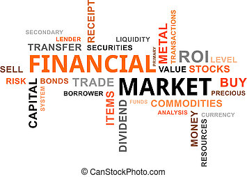 palavra, nuvem, -, mercado financeiro