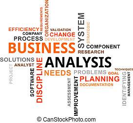 palavra, nuvem, -, negócio, análise