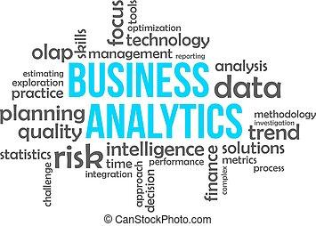 palavra, nuvem, -, negócio, analytics
