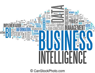 palavra, nuvem, negócio, inteligência