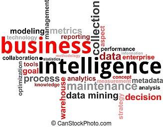 palavra, -, nuvem, negócio, inteligência