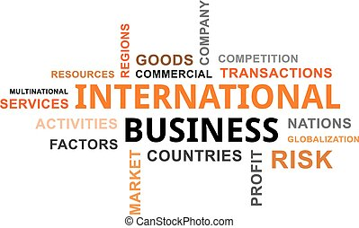 palavra, -, nuvem, negócio, internacional