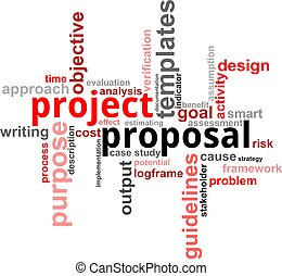 palavra, nuvem, -, projeto, proposta