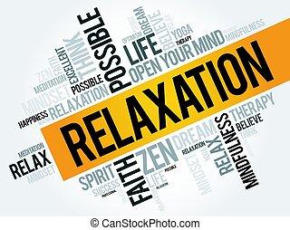 palavra, nuvem, relaxamento