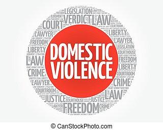 palavra, nuvem, violência doméstica