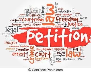 palavra, petição, nuvem