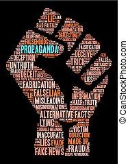 palavra, propaganda, nuvem