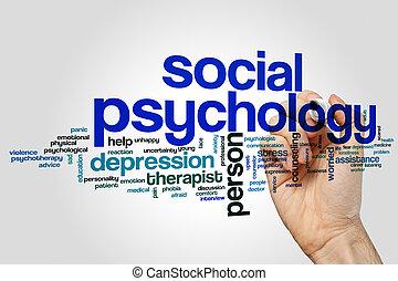 palavra, psicologia, nuvem, social