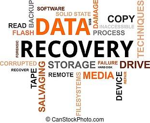 palavra, -, recuperação, nuvem, dados