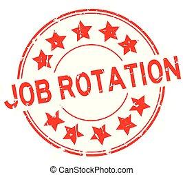 palavra, selo, redondo, borracha, trabalho, fundo, selo, grunge, estrela, branca, rotação, ícone