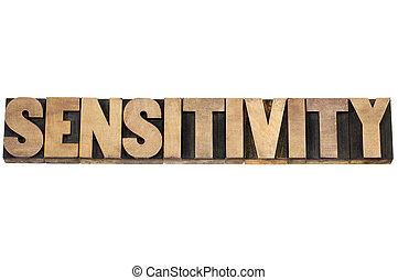 palavra, sensibilidade, madeira, tipo
