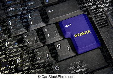 palavra, site web, em, pretas, teclado