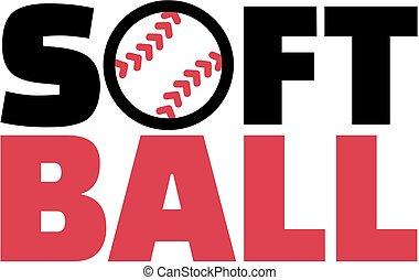 palavra, softball