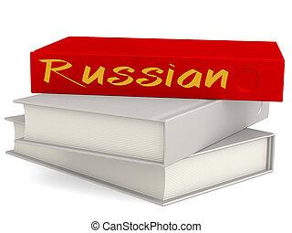 palavra, vermelho, difícil, russo, livros, cobertura