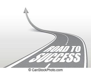 palavras, estrada, sucesso, rodovia