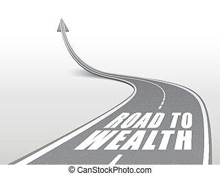 palavras, riqueza, estrada, rodovia