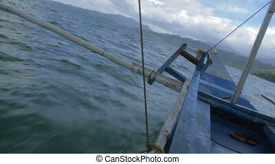 Palawan Boat Ride - A rough and bumpy boat ride on the way...