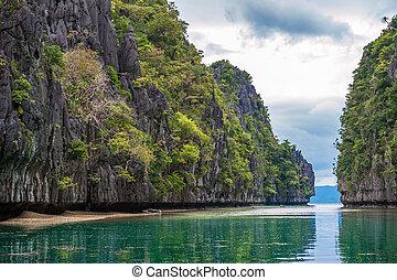 palawan, el, フィリピン, 風景, 景色, 島, nido, トロピカル