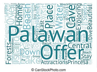 Palawan The Last Frontier text background word cloud concept