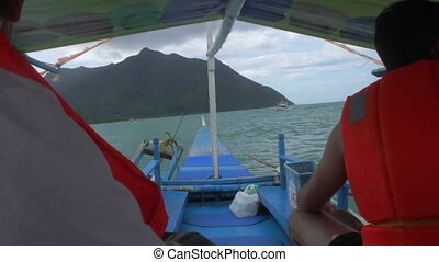 Palawan Tour Boat - A boat tour returning from the...