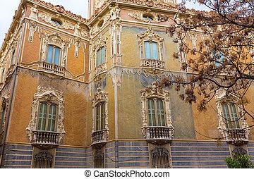 palazzo, aguas, de, palacio, marchi, dos, facciata, valencia