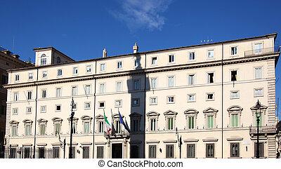 Palazzo Chigi Rome - the Palazzo Chigi, seat of the Italian...